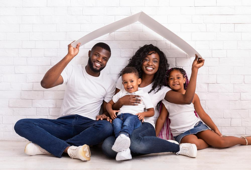 black family portait